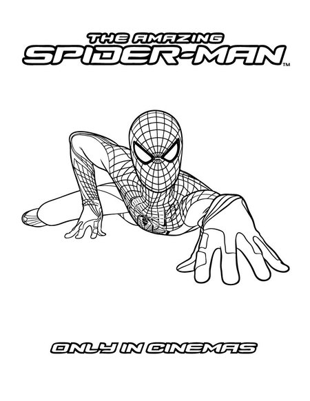spiderman two coloring pages | The Amazing New Spiderman Coloring Pages >> Disney ...
