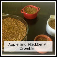 Apple and Blackberry Crumbles