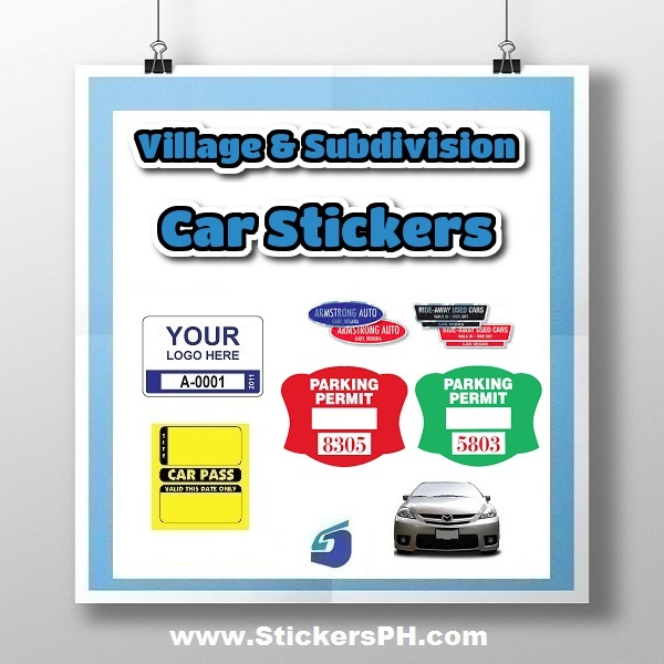 Village & Subdivision Car Stickers