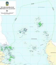 Peta Kepulauan Riaua (KEPRI) Indonesia