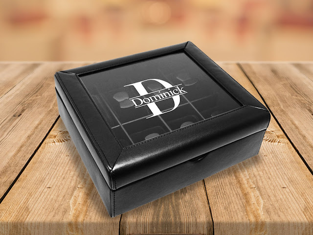 Shop Wholesale Personalized Black Faux Leather Watch Collector Case Boxes at NileCorp.com