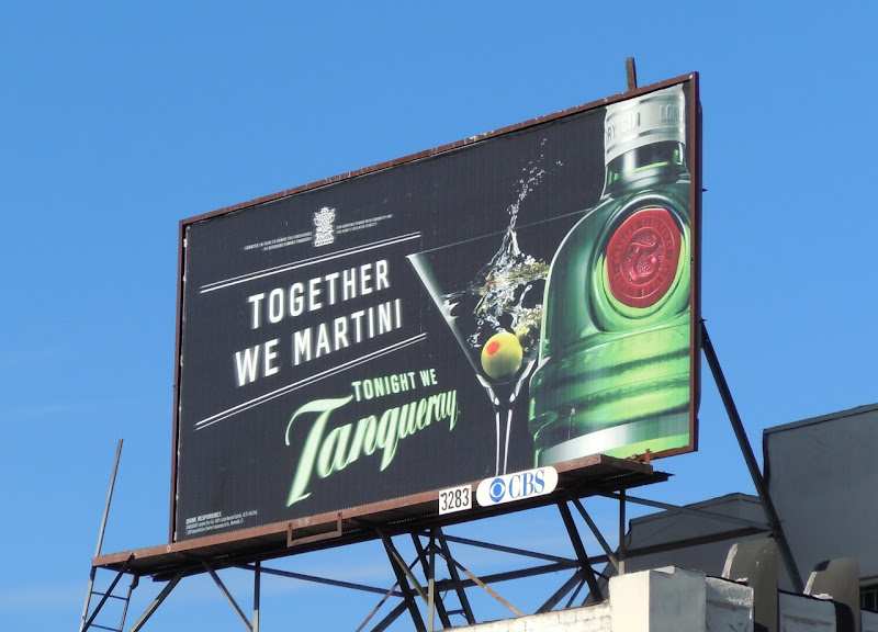 Together We Martini Tanqueray billboard