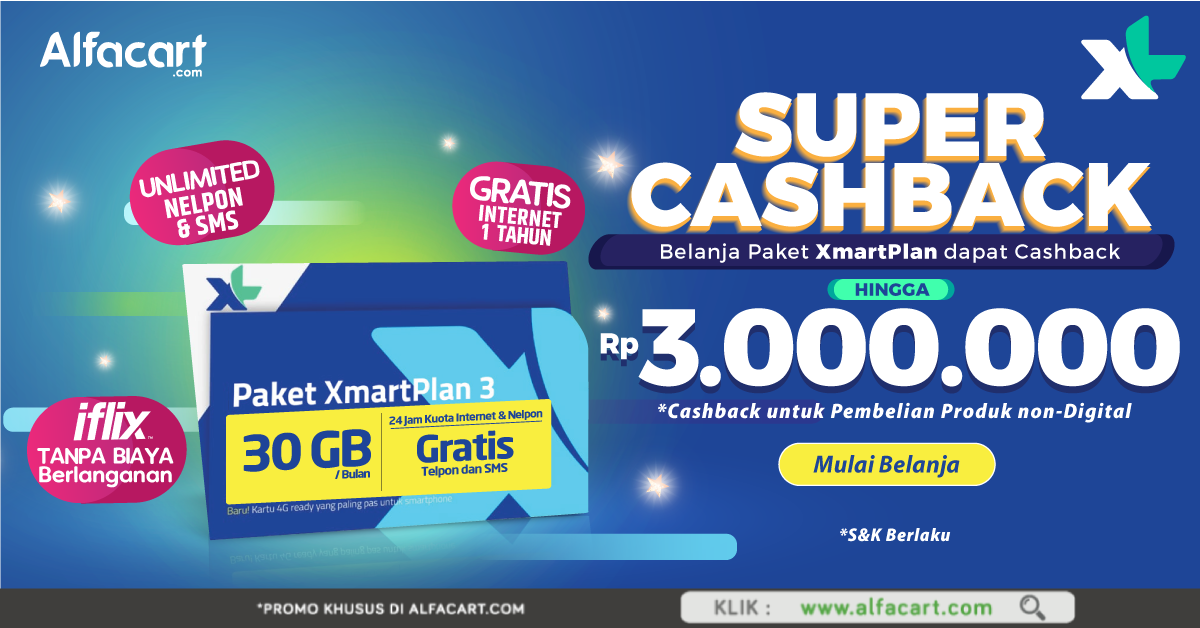 #Alfamart - Promo Super Cashback s.d 3 Juta (s.d 31 Des 2018)