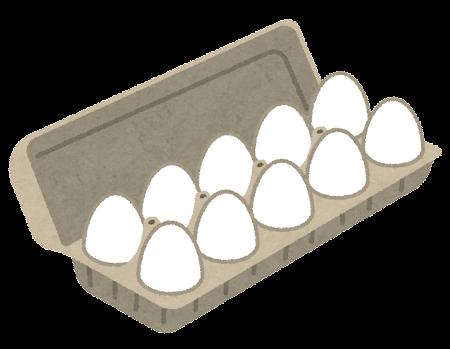 パックに入った卵のイラスト