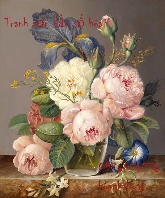 Tranh son dau so hoa tai Huyen Hoai Duc