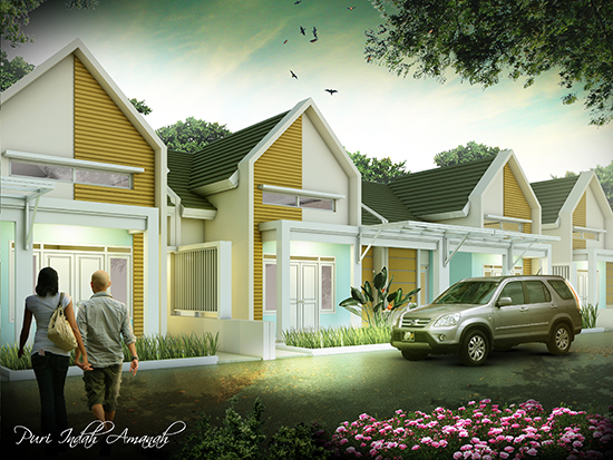 Desain rumah minimalis luas 86 m2 3 kamar tidur 1 lantai