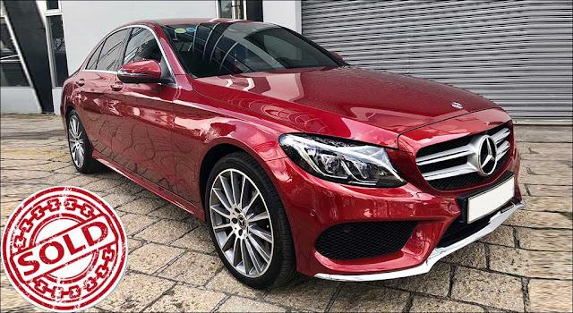 Mercedes C300 AMG 2018 Đỏ nội thất Đen đã qua sử dụng