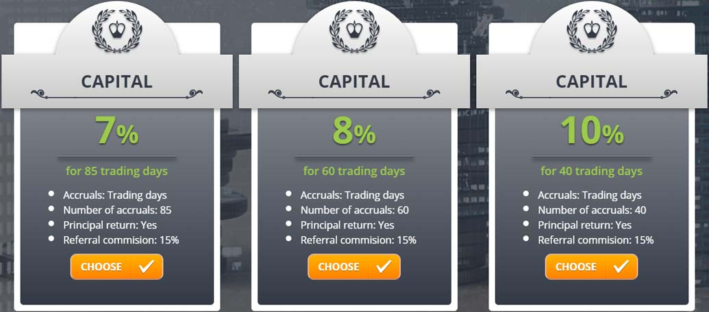Инвестиционные планы Yesss Capital LTD 5