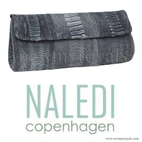 Crown Princess Mary NALEDI Brushed Ostrich Clutch