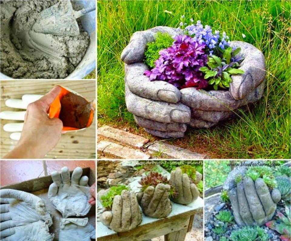 diy hand cupped stone garden planter   handy diy