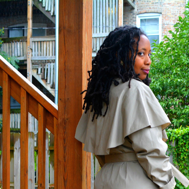 style a thrifted trench coat