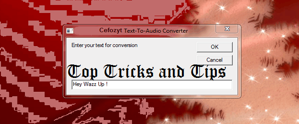 Convert Text into Audio