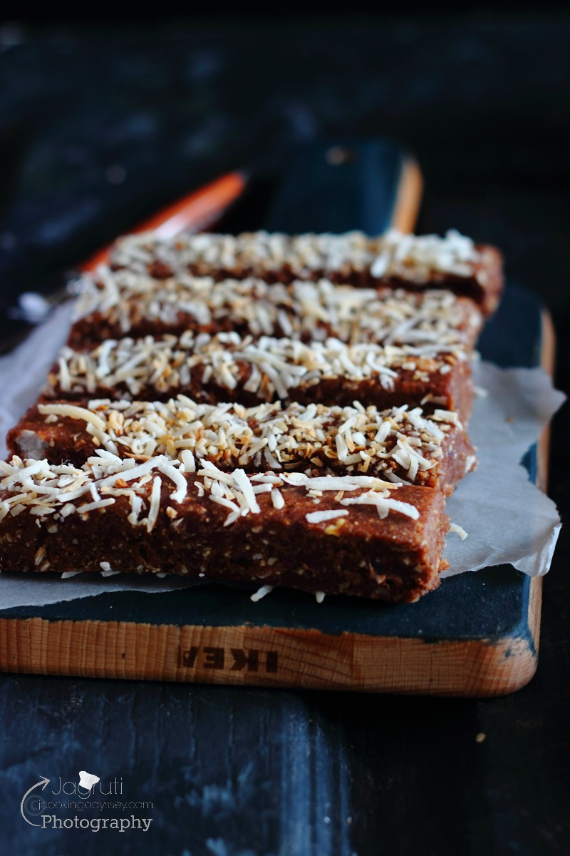 No bake Coconut and Fox nut bars are vegan, healthy and easy to make. Great for lunch boxes, even for breakfasts or just perfect craving buster without feeling guilty.