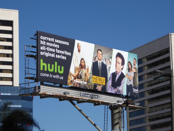Hulu come TV with us billboard