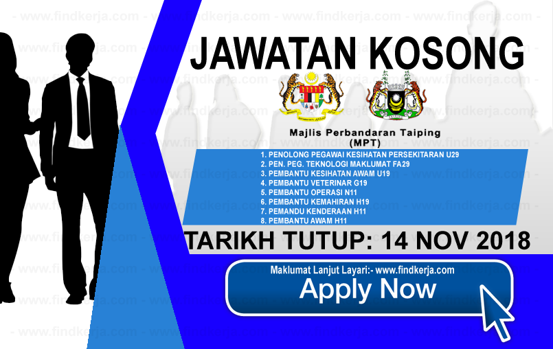 Jawatan Kerja Kosong Majlis Perbandaran Taiping logo www.ohjob.info www.findkerja.com november 2018