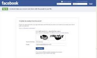Cara Mereset Password Sandi Facebook