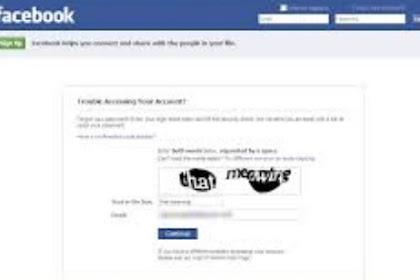 Cara Mereset Ulang Password Facebook Karena Lupa