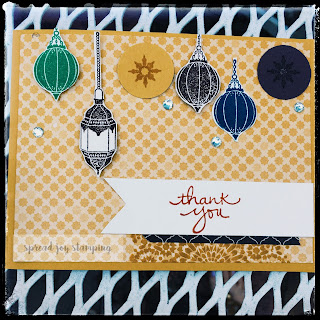 Stampin' Up! Moroccan lantern card by Spread Joy Stamping
