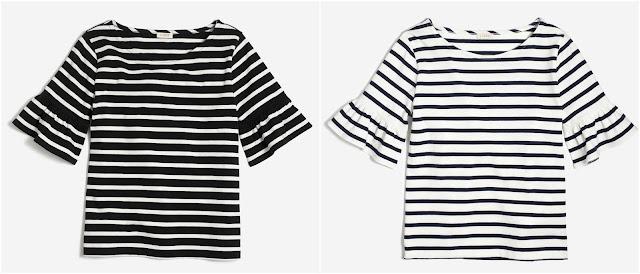 J. Crew Factory Ruffle-Sleeve T-Shirt $23 (reg $45)