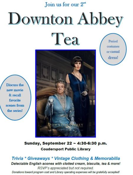 9-22 Downtown Abbey Tea