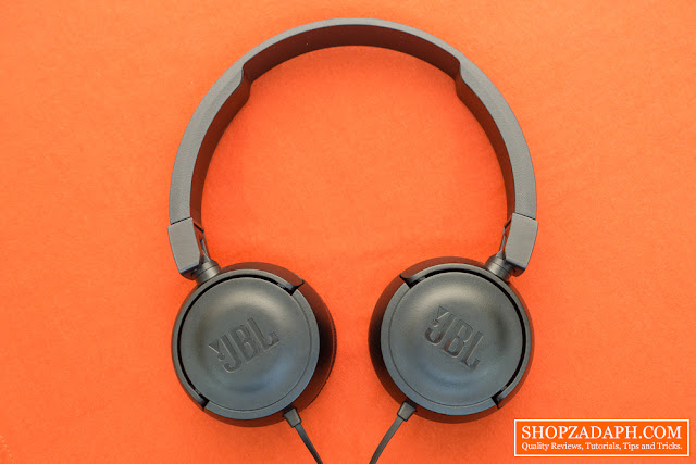jbl t450 on-ear headphone review  - jbl t450 design