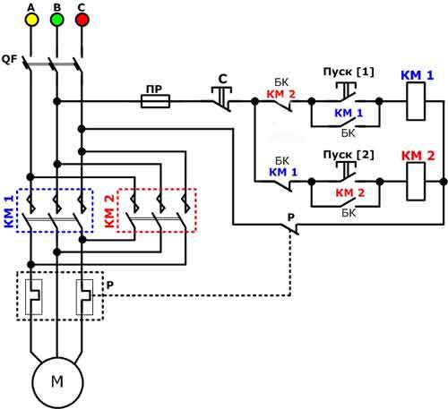 Схема пуска магнитного пускателя фото 26