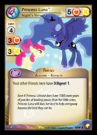 My Little Pony Princess Luna, Night's Steward Equestrian Odysseys CCG Card