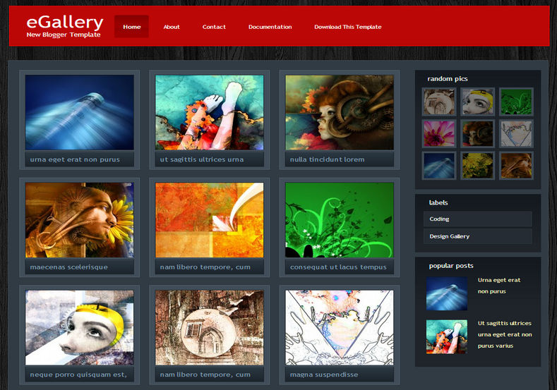 eGallery Blogger Template