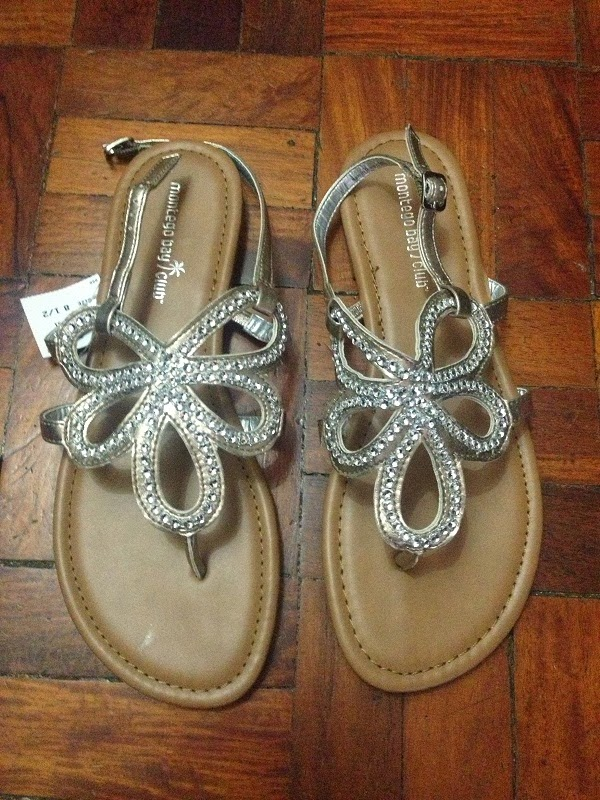 153f19f2f4a Gold Flat Sandals from Montego Bay Club (Payless Shoe Source)