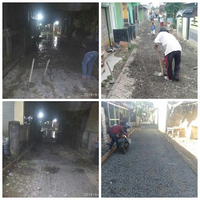 Pekerjaan Betonisasi Asal Jadi Daerah Desa Sentul