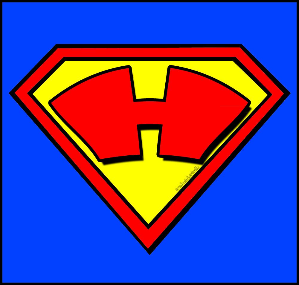 bouba saberholic letters in superman logo style. Black Bedroom Furniture Sets. Home Design Ideas