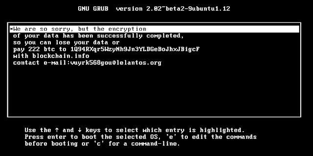 Pedido de resgate nos sistemas GNU/Linux