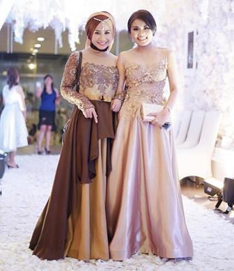 Model Baju Muslim Kombinasi Brokat Terbaru