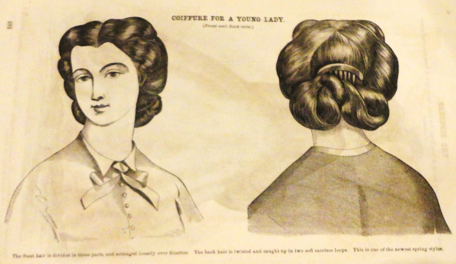 hair styles with gel coiffures of godey s 1864 1864
