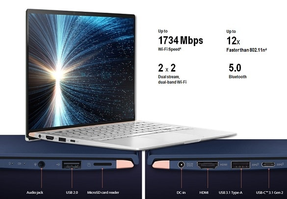 Port Koneksi ASUS Zenbook 13 UX333