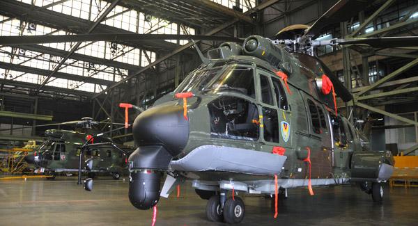Helikopter Super Cougar Bisa Mendarat di Laut Bila Mesin Mati
