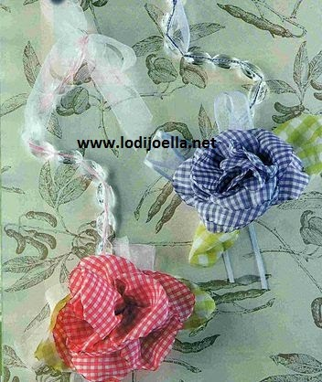 Colgantes con flores de tela lodijoella - Colgador de tela con bolsillos ...