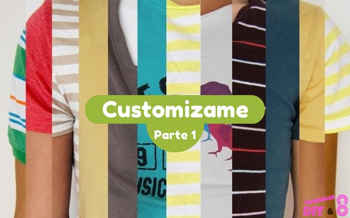 serie de tutoriales para personalizar camisetas basicas baratas tu misma con tus manos y customizarlas.