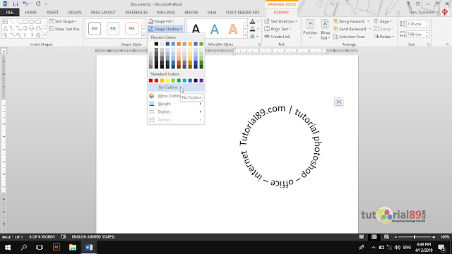 Cara membuat tulisan melingkar atau melengkung di word + video
