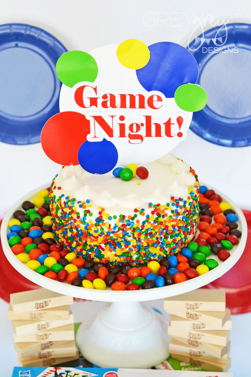 Greygrey Designs My Parties Family Game Night Party