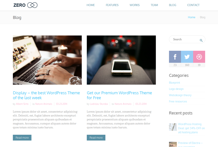Zero - Multi-Purpose WordPress Theme - [REVIEW]