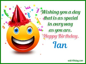 Happy Birthday Ian