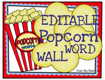 Frog Spot: Editable Popcorn Words Wall for Sight Words