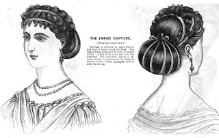 """The Empire Coiffure"", Godey's, 1866"
