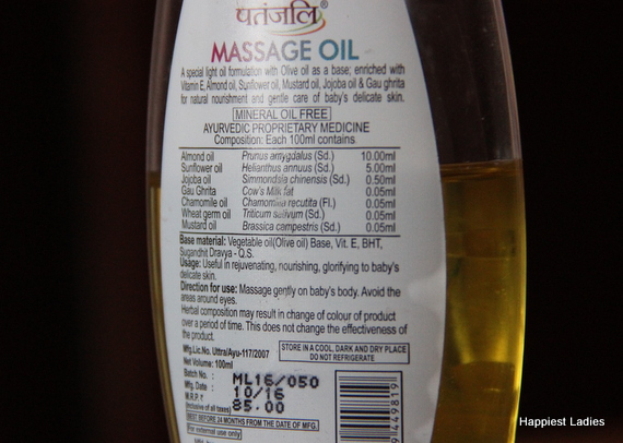 almond oil for baby oil massage