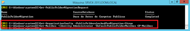 Set-OrganizationConfig -PublicFoldersLockedForMigration:$true