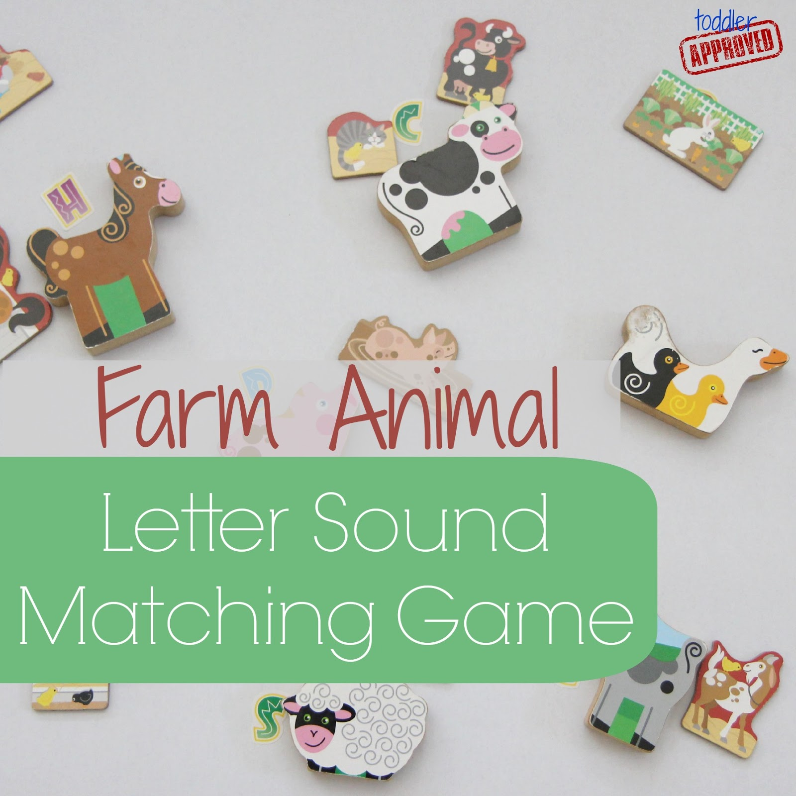 Toddler Approved Farm Animal Letter Sound Matching Game