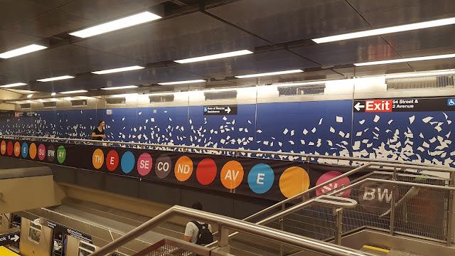 Murales, Street Art, Arte Callejero, Arte Moderno, Upper East, 96, 86, 72, MTA, Second Avenue Subway, Metro de la Segunda Avenida, Línera Amarilla, Línea Q, Chuck Close, Perfect Strangers, Sarah Sze, Blueprint for a Landscape, Subway, Metro, Subterráneo, New York, Nueva York, Manhattan, Elisa N, Blog Viajes, Lifestyle, Travel, TravelBlogger, Blog Turismo, Viajes, Fotos, Blog LifeStyle, Elisa Argentina