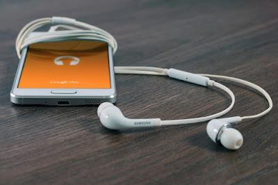 móvil celular smartphone cascos audio