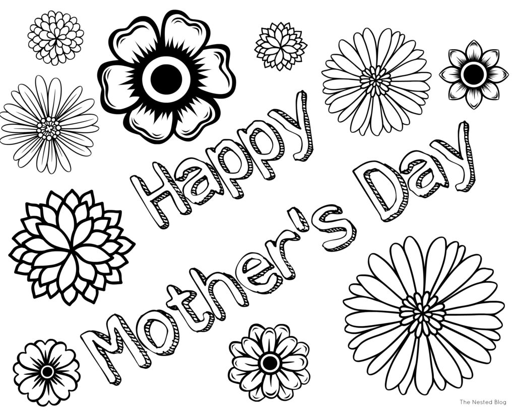 Happy Mother S Day Coloring Pages Free Printable